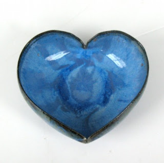 Three Inch Heart Bowl by JDWolfe Pottery