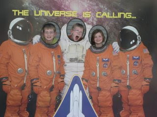 David, Spencer and Lillian at Kennedy Space Center