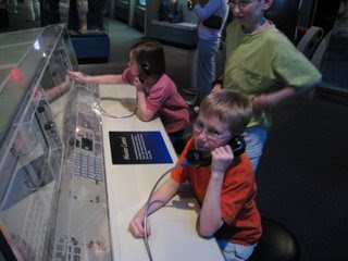 David, Lily and Spencer at Mission Control
