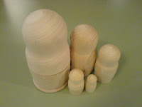 Unpainted Nesting Dolls from The Wurst Gallery