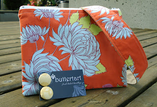 Tangerine Pouch and Hair Accessories at Buttertart