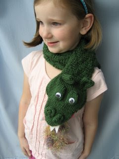 Fire-Breathing Dragon Scarf