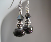 Hematite Earrings at Dreamin' of Beadin'