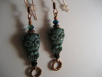 Owl Earrings at Dreamin' of Beadin'