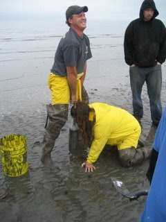 Clam Digging in Ninilchik, Alaska