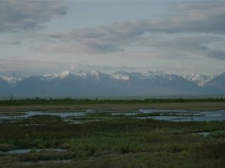 The Talkeetna Mountains in Alaska