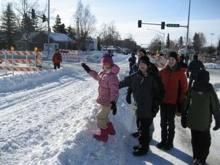 Iditarod Race in Anchorage, Alaska