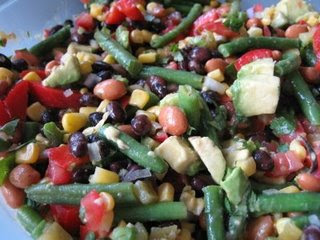 Three Bean Southwestern Salad