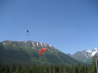 Paragliders at Alyeska