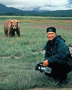 Timothy Treadwell with Bears