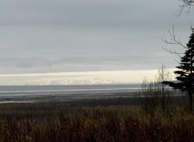 The Alaska Range West of Anchorage Alaska