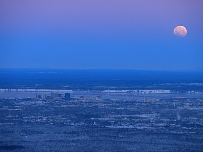 Blue Moon over Anchorage