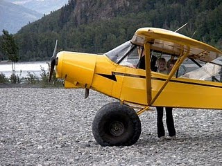 Flying in Alaska