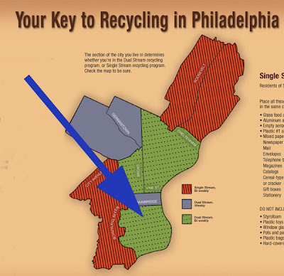 Philadelphia Recycling Map