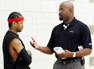 Billy King and Allen Iverson