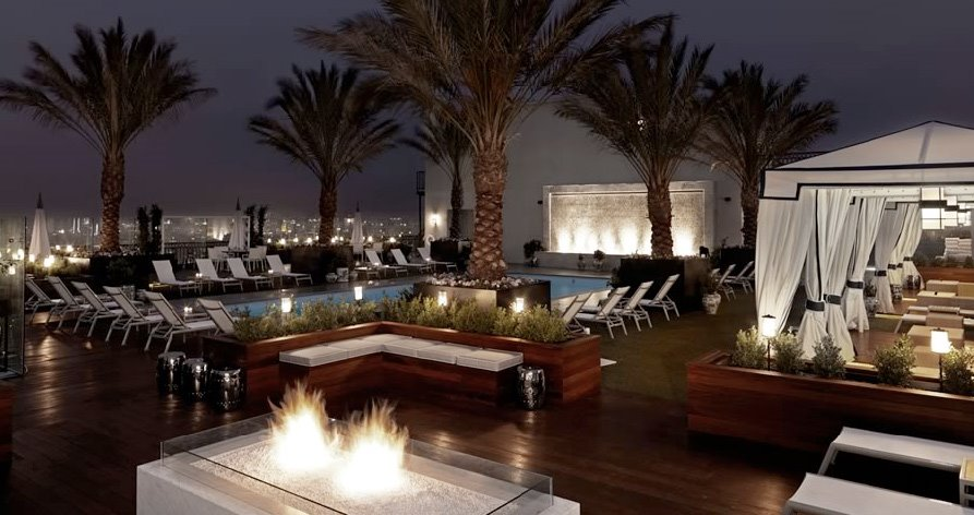rooftop pool at london west hollywood hotel