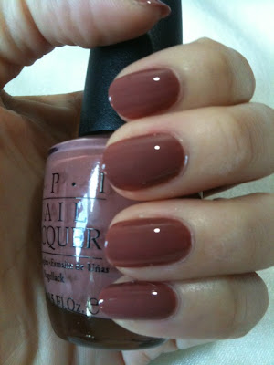 OPI nail lacquer in C89 Chocolate Moose (S$19-23.50)