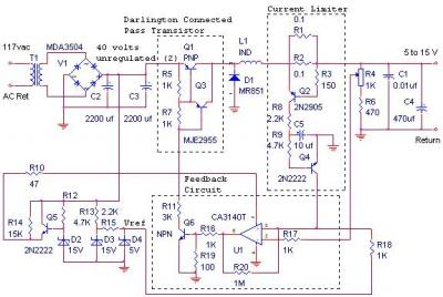 CIRCUIT: MJ2955 Switching Power Supply 12V 10Amp