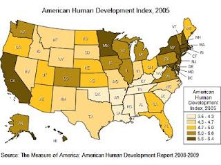 american human development index map