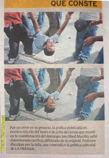 Disculpa de La Prensa