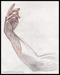 Hand Study for Snow Queen Painting