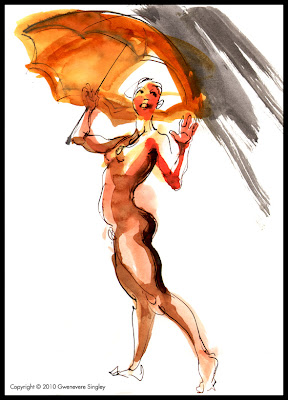 Singing in the Rain in the Nude
