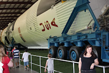 Lena and a Saturn 5 Rocket