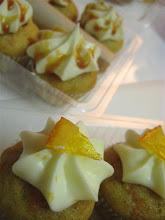 Candied orange & caramel as toppings