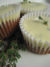 Zucchini cupcakes with thyme icing