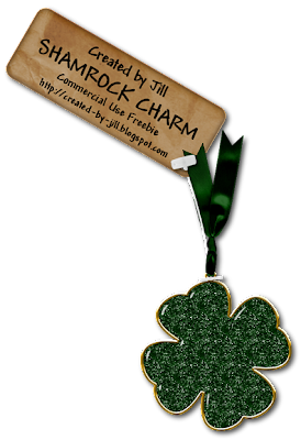 St Patties Day Embellishment - By: Created By Jill Shamrock+preview_blog