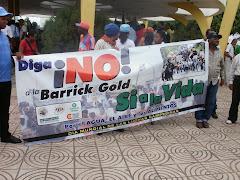 MARCHA EN COTIO CONTRA LA BARRICK GOLD
