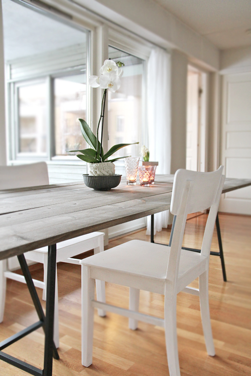 Stylizimo: Faux Driftwood Dining Table DIY