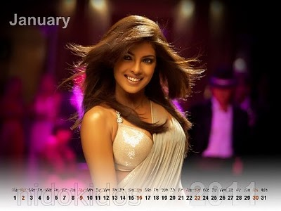 2011 Calendar Wallpapers, Hot Priyanka Chopra Desktop Calendar 2011,
