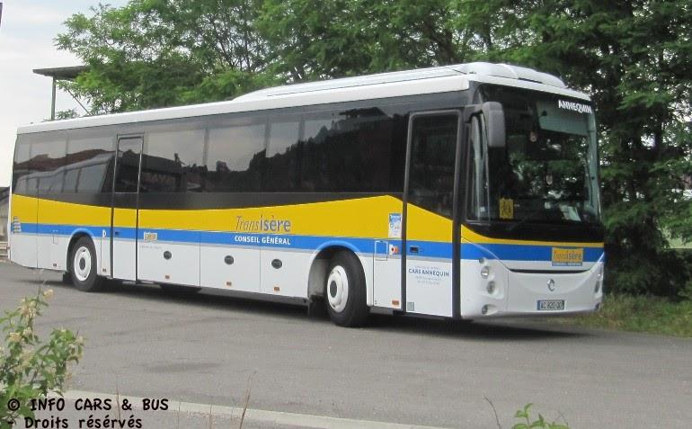 info cars bus irisbus evadis annequin 38 bourgoin