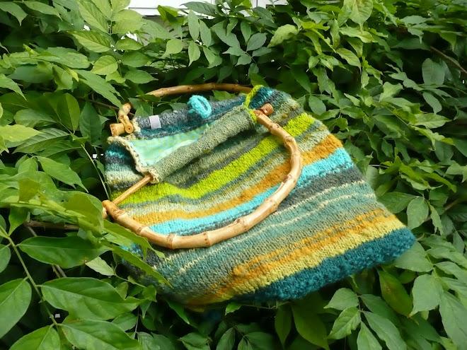 © tas met bamboe handvaten