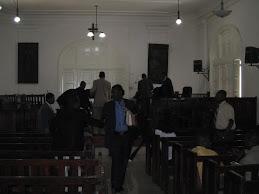 Visits Palais du Justice in Haiti