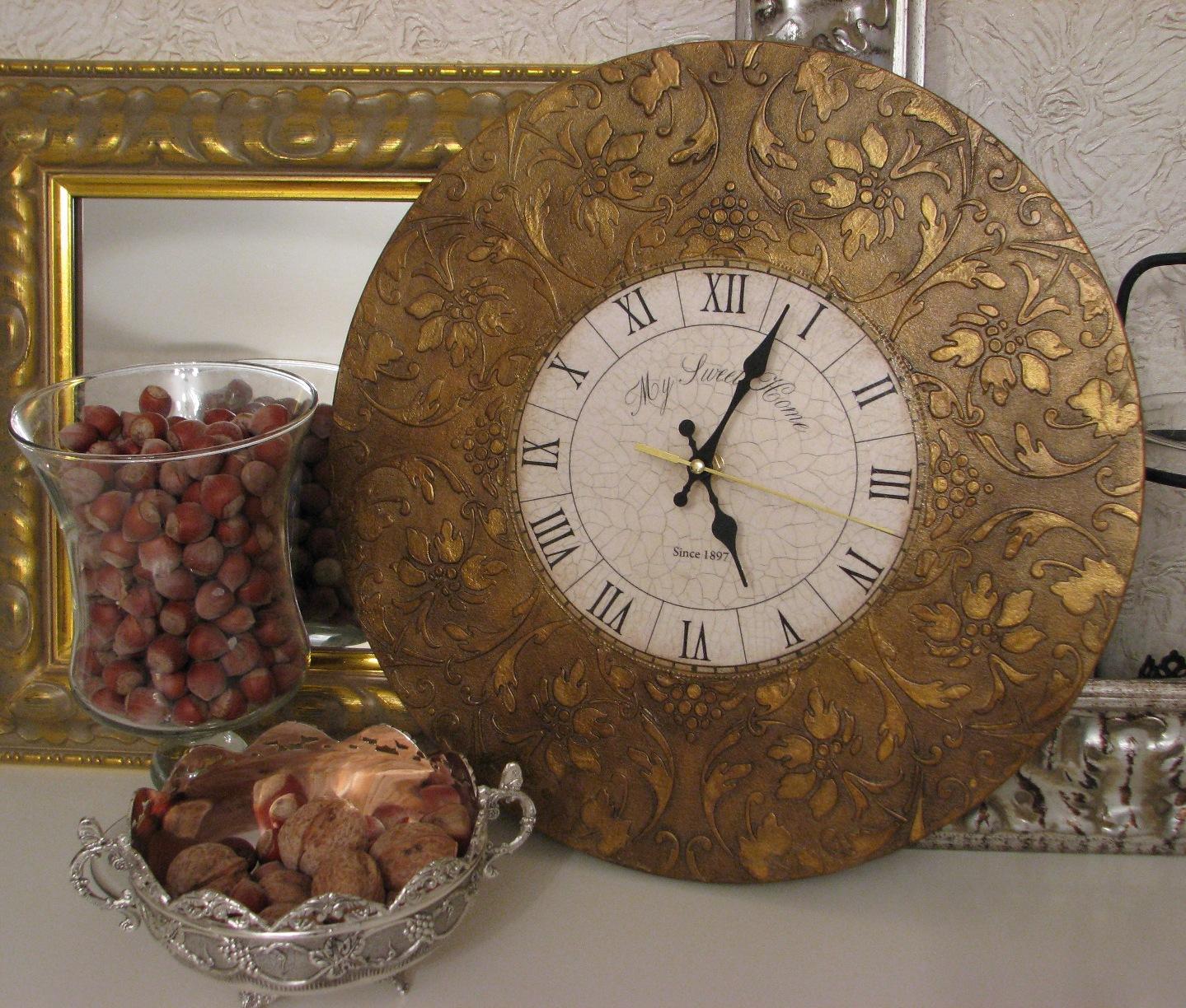 Часы в стиле декупаж своими руками