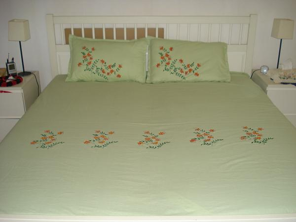 Fabric Painted Bed Sheets