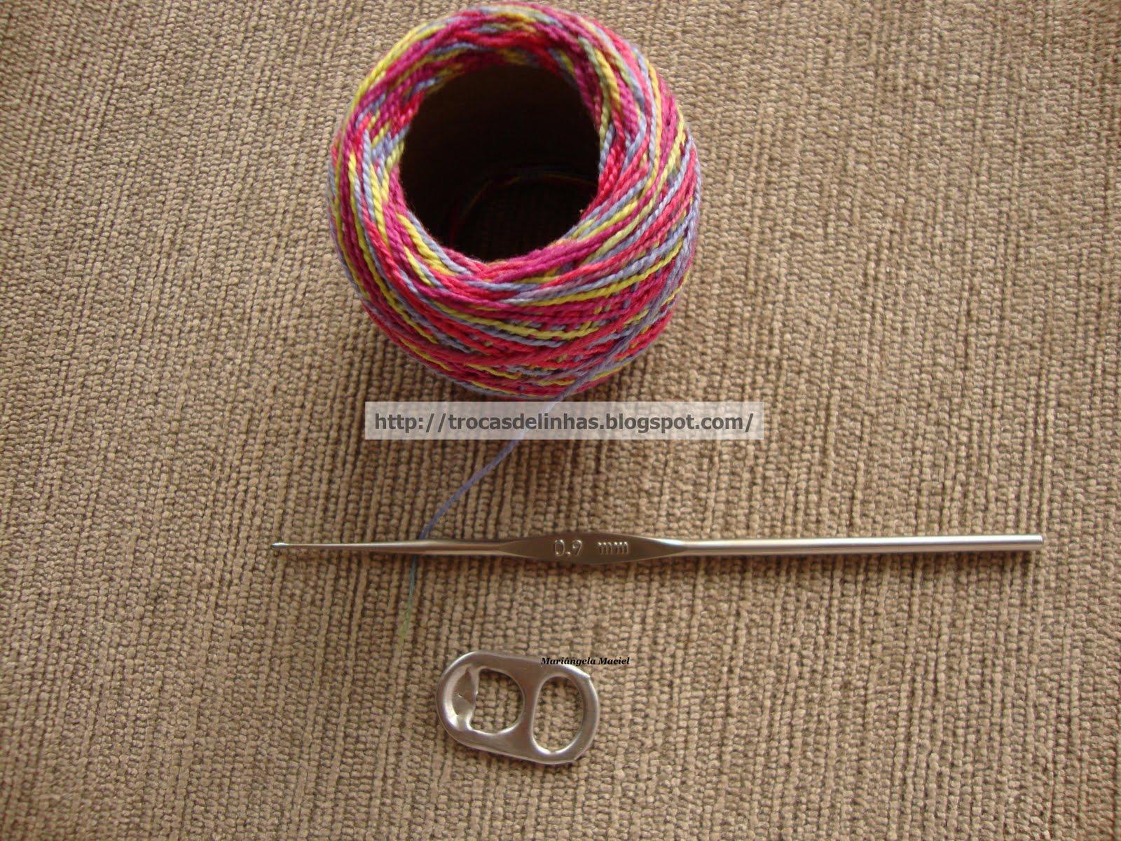 Trocas Linhas Passo Croche Com Lacres Latinhas