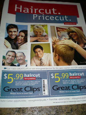 Coupons  Hair Cuts on Saving Money For A Wedding  Great Clips  5 99 Haircut