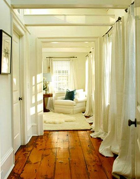 White Wide Plank Wood Floor
