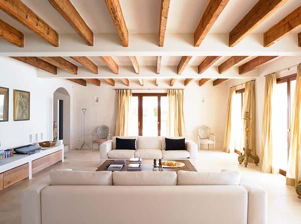 I want a house like this rustic chic living room - Decoracion de casas antiguas ...