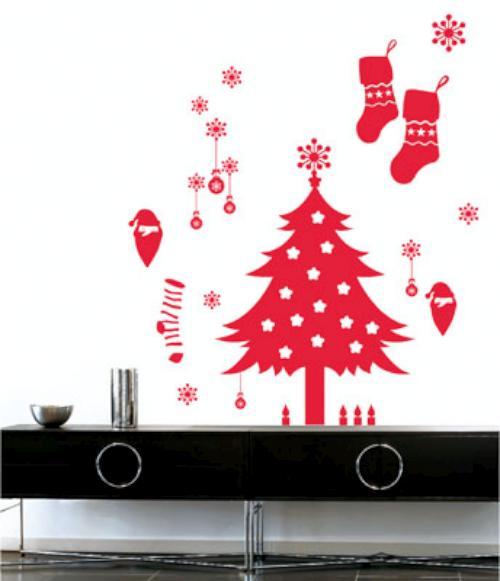 Navidad y manualidades una navidad con vinilos for Vinilos pared navidad