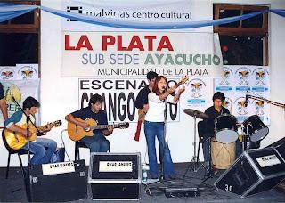 Magalí en el Pre-Ayacuho, en el año 2005