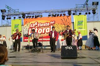 Marcelo Carpio y su agrupación chamamecera junto al ballet Raíces de Simoca