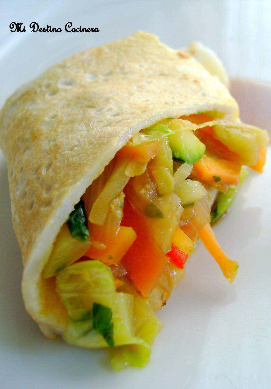 Simplemente cocinera crepes ligeros de harina de arroz - Arroz con verduras light ...