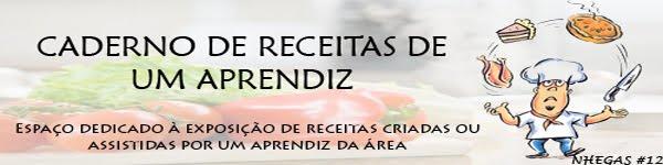 CADERNO DE RECEITAS DE UM APRENDIZ