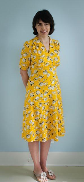 Pleasant View Schoolhouse A Swing Dress In Yellow Cotton Simple Swing Dress Pattern