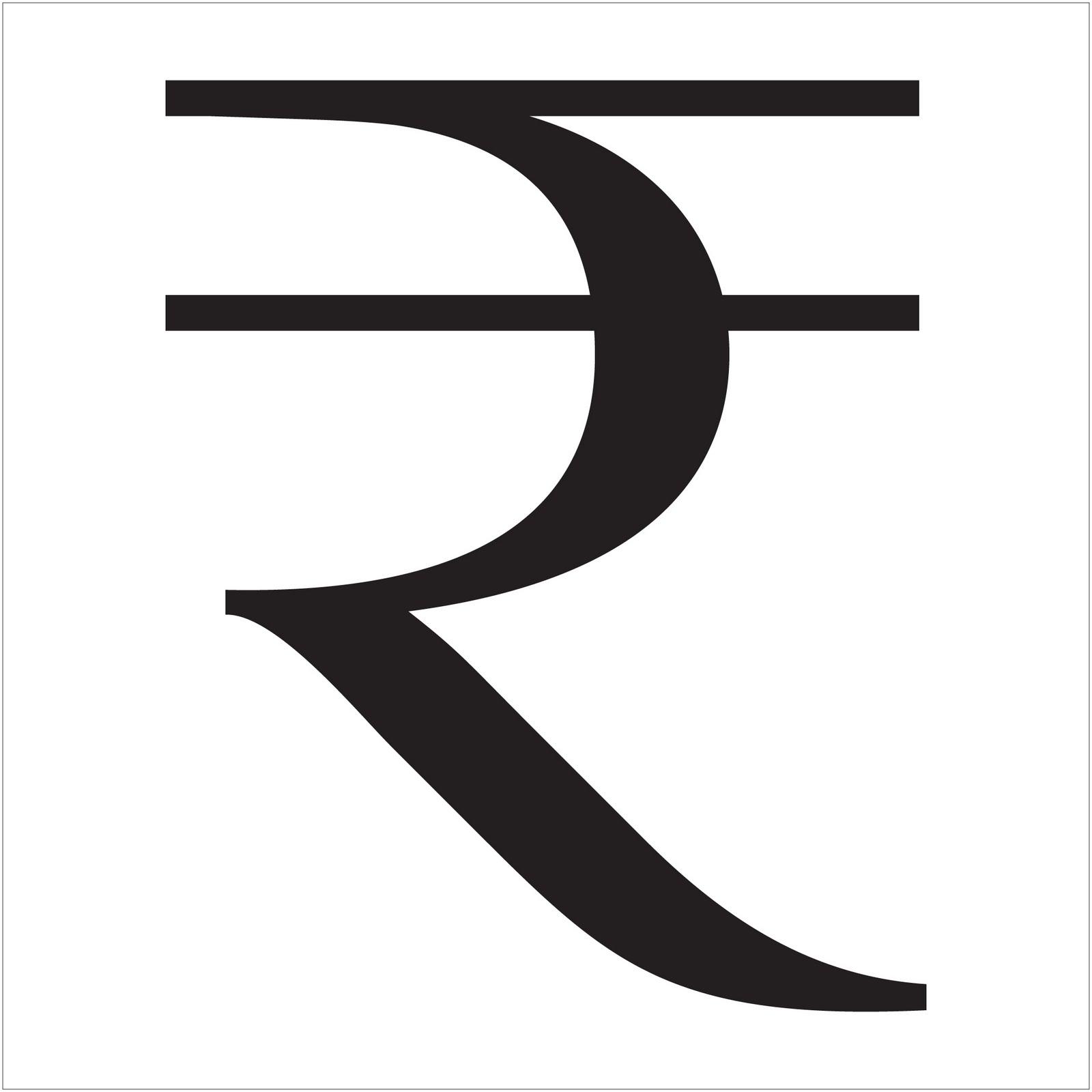 Fun with letterforms customization of rupee symbol buycottarizona