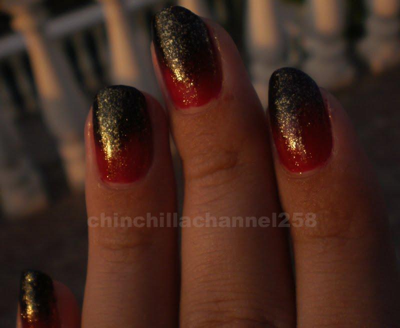 Cookingchinchillas Gothic Fade Effect Nail Design